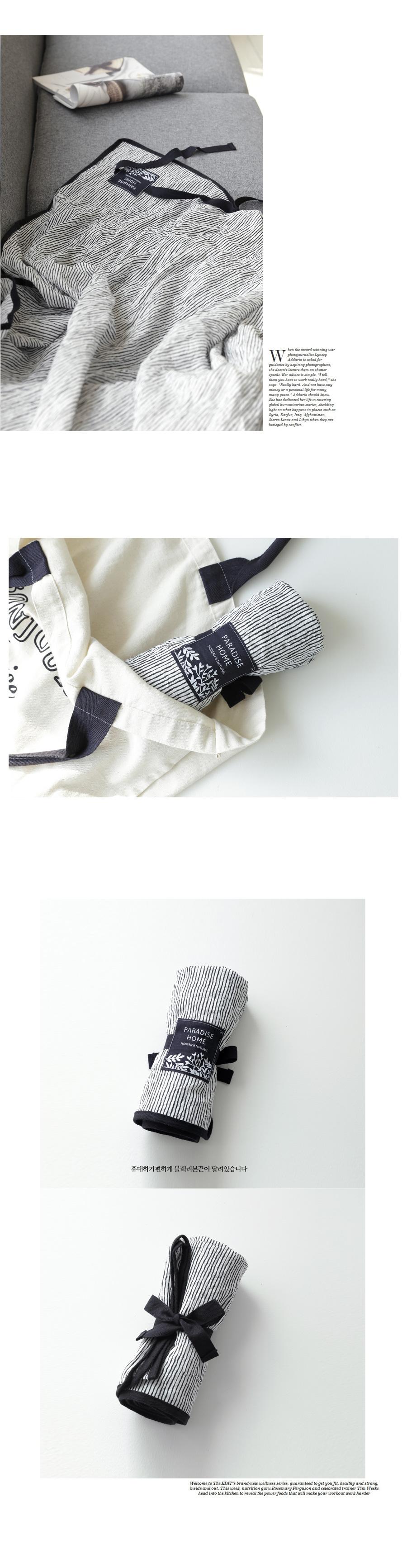 내추럴 크리즈 썸머 블랑켓 [블랙-110x70cm] - 파라다이스홈, 14,000원, 담요/블랑켓, 극세사 블랑켓